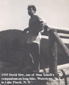 1939-15 David Sive, Hike, Watertown to Lake Placid, NY