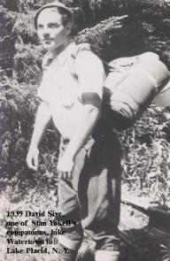 1939-16 David Sive, Hike, Watertown to Lake Placid, NY