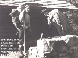 1939-23, Stan Yokell & David Sive, Hike, Watertown to Lake Placid, NY