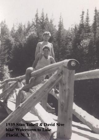 1939-24, Stan Yokell & David Sive, Hike, Watertown to Lake Placid, NY